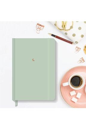 AKILLICA Notebook Lastikli Düz Çizgisiz Sert Kapak Defter 13x21 Cm Hardcover Notebook Green