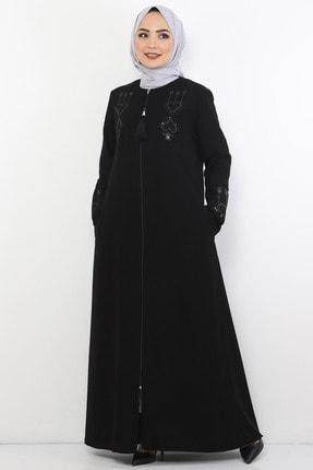Tesettür Dünyası Etnik Desenli Elbise Tsd0006 Siyah