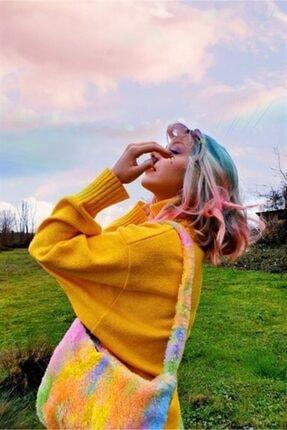 Carpe Rainbow Fluffy Peluş Çanta