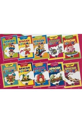 Karatay Yayınları Karatay Çocuk Gelişimine Uygun Afacan Boyama Kitabı Seti 10 Lu