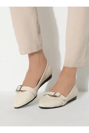 ayakkabıhavuzu Kadın Krem Cilt Günlük Ayakkabı