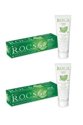 R.O.C.S. Rocs Gum Balm - Diş Eti Için Balsam - Dişeti Için Bitki Özlü Diş Macunu 75 Ml X2