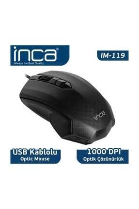 Inca Im-119 Usb Siyah Optik Mouse