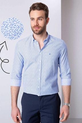 Pierre Cardin Erkek Mavi Slim Fit Gömlek G021GL004.000.814238
