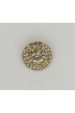 Turuncu Tuhafiye Taşlı Aksesuar Düğme 2 cm