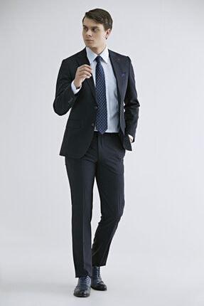 D'S Damat Erkek Lacivert Slim Fit Düz Takım Elbise