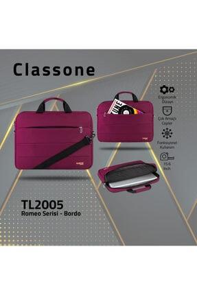 Classone Tl2005 Romeo Serisi 15.6 Inch Uyumlu Notebook Laptop El Çantası-Bordo