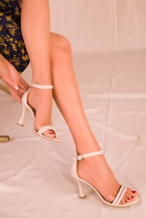 SOHO Bej Kadın Klasik Topuklu Ayakkabı 15839