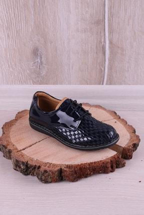Kidya Erkek Çocuk Lacivert Rugan Bağcıklı Ortopedik Ayakkabı