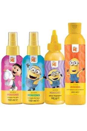 AVON Minions Kız Ve Erkek Çocuklar Için Parfüm Şampuan Ve Saç Kremi Paketi