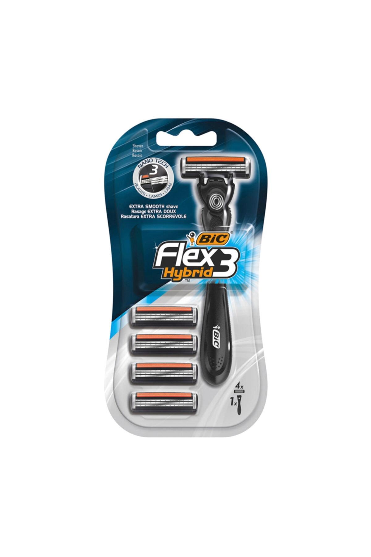 Bic Bıc Flex 3 Hybrid Tıraş Bıçağı 4 Kartuşlu 1