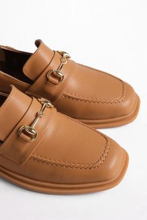 Marjin Kadın Loafer Ayakkabı Racescamel