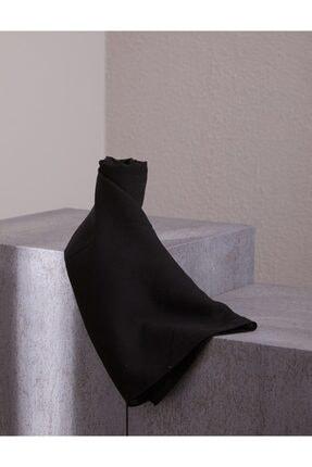 Kayra Keten Görünümlü Şal Siyah A20 Sal37