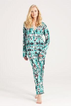 zau Şifon Baskılı Pijama Takımı