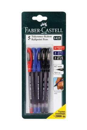 Faber Castell Faber Castell 1425 Renkli Tükenmez Kalem 5Li
