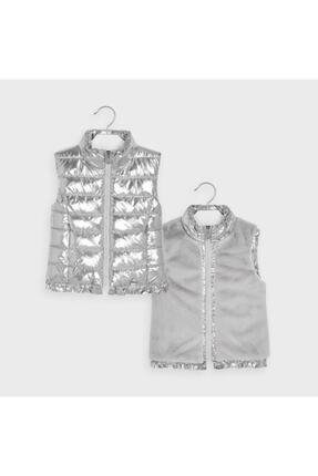 MAYORAL Kız Çocuk Gümüş Çift Yüzlü Yelek