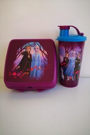 Tupperware Kız Çocuk Mor Elsa Beslenme Seti