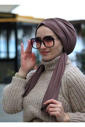 Sahra Şal Dünyası Tasarım Bone Koyu Vizon