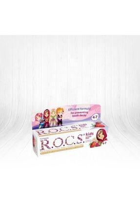 R.O.C.S. Rocs Kids Yaz Esintisi Ahududu& Çilek Diş Macunu 45g 4-7 Yaş