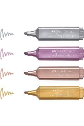 Faber Castell Metalik Işaretleme Kalemi 4 Lü Set 4 Farklı Renk