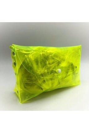 The Shirret Accessories Neon Şeffaf Makyaj Çantası