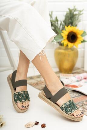 MUGGO Mgnakıs03 Kadın Haki Sandalet