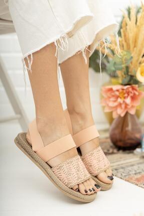 MUGGO Mgnakıs03 Kadın Pembe Sandalet