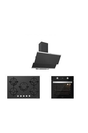 Silverline Siyah Cam Ankastre Set 5 Yıl Garanti (3420 Classy 60+cs5364b01+bo6504b01)