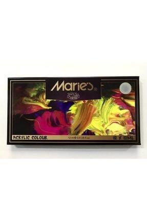 Maries Marie's Akrilik Boya 12'li Tüp 12 Ml.