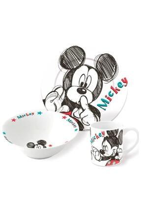 Disney Mickey Mouse Lisanslı Mickey Mouse Porselen Çocuk Mama Seti 3lü