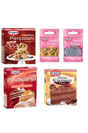 Dr. Oetker Pandispanya Unu,çikolata Parçaları,kakaolu Pasta Kreması,gümüş Inci Ve Konfeti Süsü Paketi