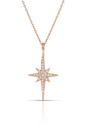 Herisson Silver Kadın 925 Ayar Gümüş Zirkon Beyaz Taşlı Kutup Yıldızı Kolye