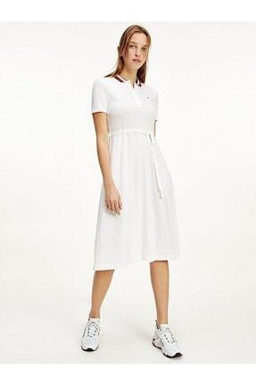 Tommy Hilfiger Global Stp F&f Mıdı Pop Elbise