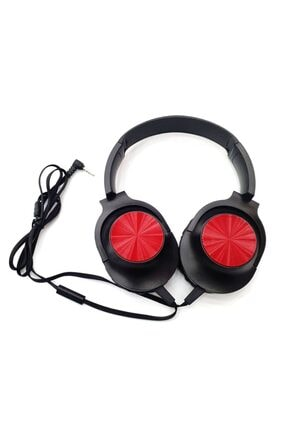 Pars Relax H11  Uyumlu Kırmızı- Extrabass Mikrofon -  Mikrofonlu Kulaklık