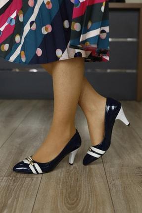 PUNTO Kadın Lacivert Kadın Kemerli Topuklu Ayakkabı
