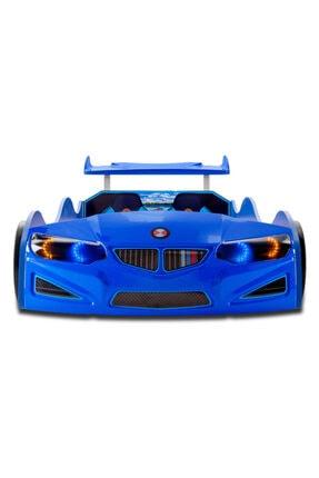 inegoldeneve Bmw - Gt1 - Arabalı Yatak Araba Karyola - Tekerleri Ledli - Mavi