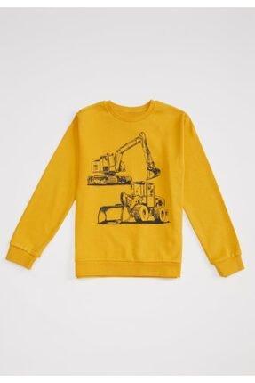 DeFacto Erkek Çocuk Iş Makinesi Baskılı Sweatshirt