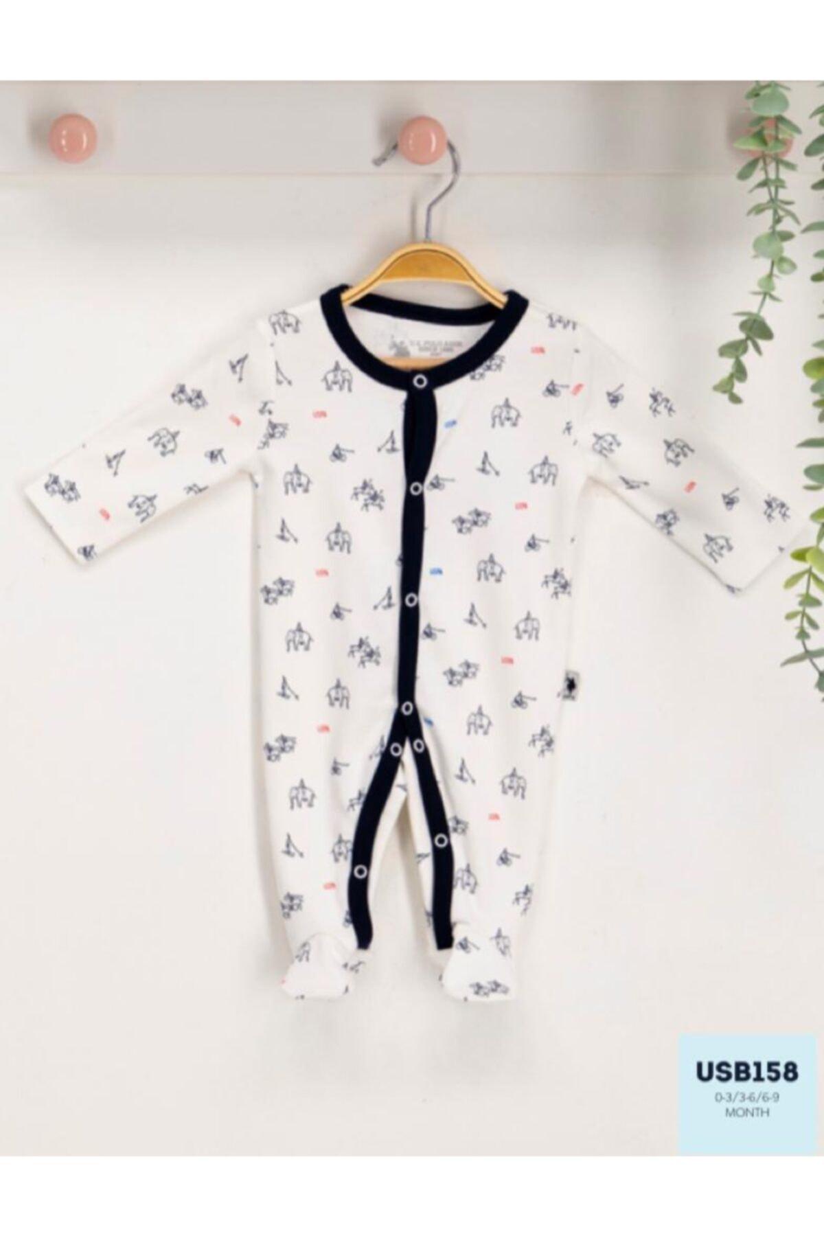 U.S. Polo Assn. Kids U.s. Polo Assn Lisanslı Bebek Uzun Kol Patikli Tulum Usb158 1