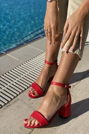 İnan Ayakkabı KadınTek Bant Bilekli Topuklu Ayakkabı