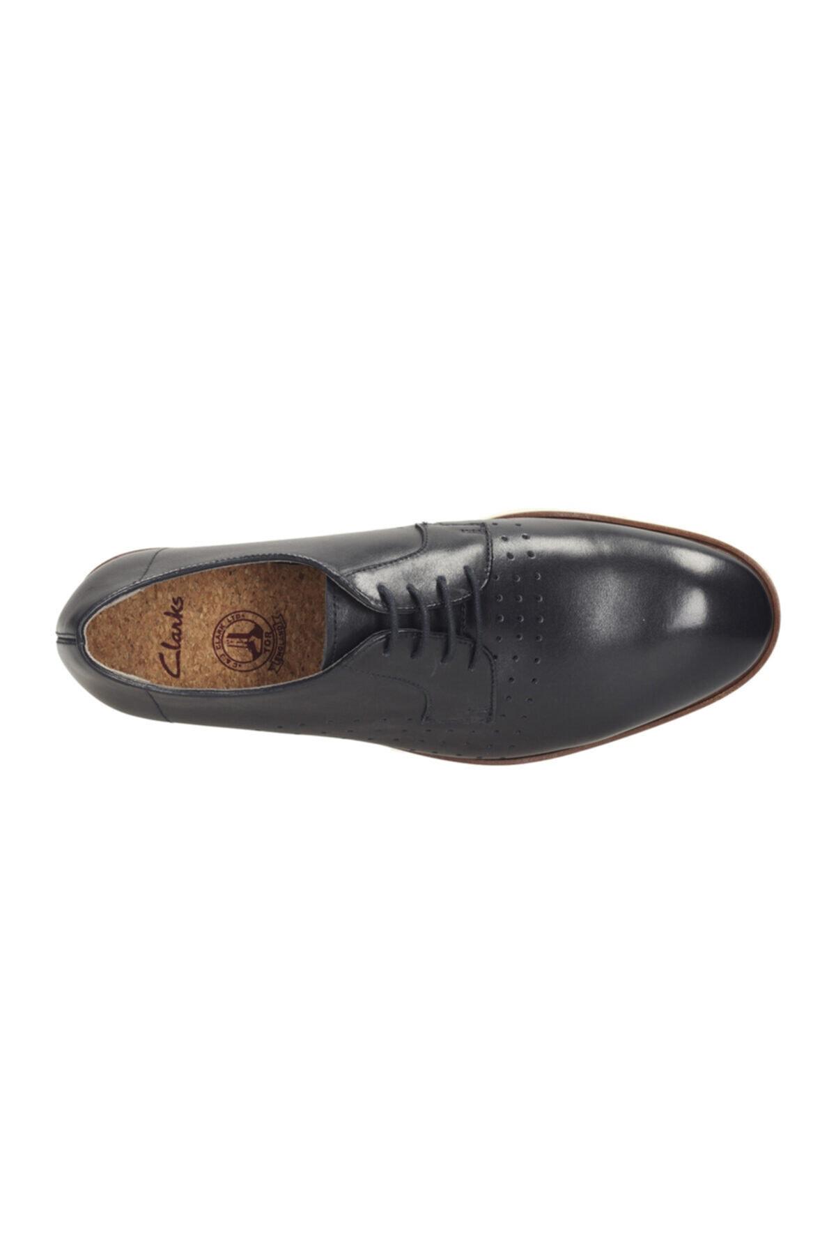 CLARKS Hakiki Deri Lacivert Erkek Ayakkabı 261142717 2