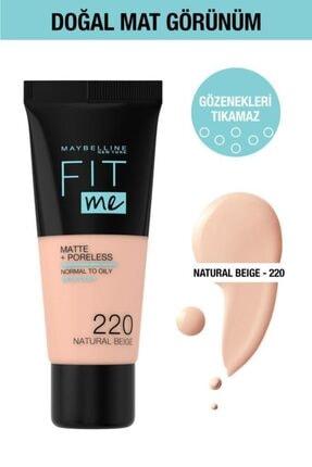Maybelline New York Fit Me Matte+poreless Fondöten - 220 Natural Beige