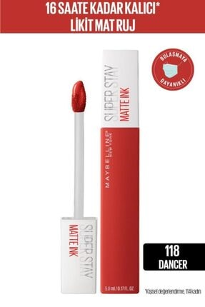 Maybelline New York Super Stay Matte Ink City Edition Likit Mat Ruj - 118 Dancer