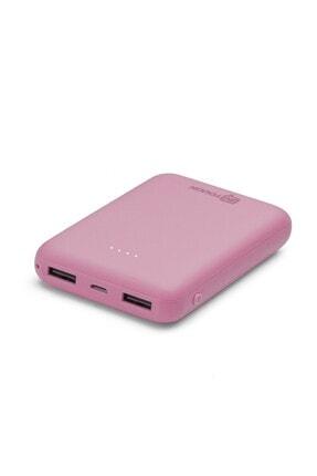 İntouch Basic 10.000 Mah. 2 Çıkışlı Taşınabilir Sarj Cihazı Powerbank Pembe