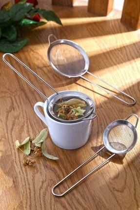 İndirimKap Lüx Paslanmaz Metal 3 Boy Çay& Bitki Süzgeci