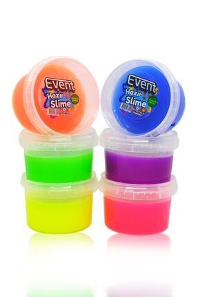 EVENTİ Event 6 Renk Neon Fosforlu Hazır Slime - Hazır Slaym Oyunu 6x170gr Toplam 1020gr.hsx