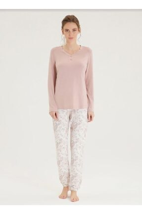 Blackspade Kadın Pijama Takımı 50308-açık Gül Rengi