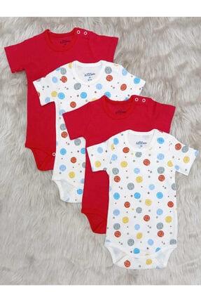 Aziz Bebe Renkli 4'lü Çıtçıtlı Body