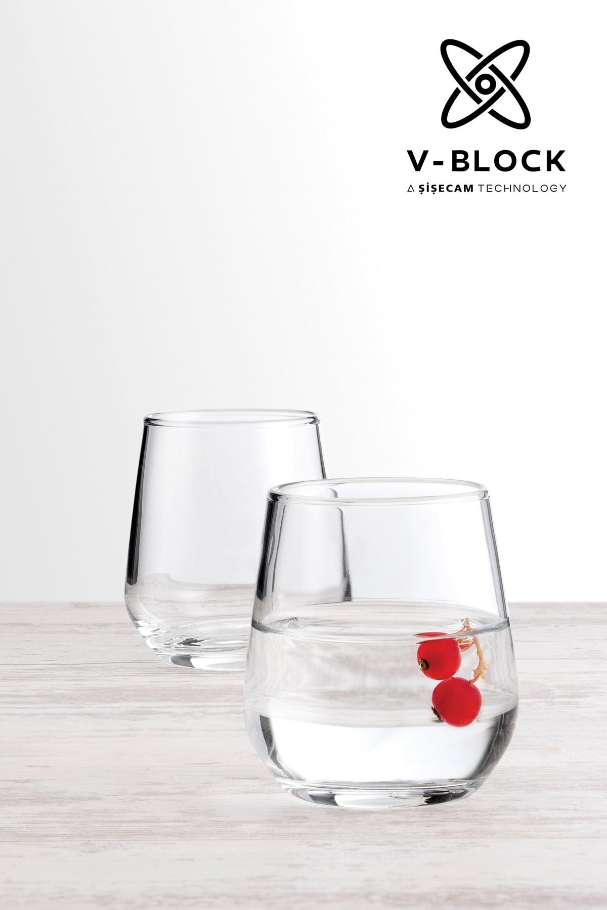 Paşabahçe V-Block Antimikrobiyal Allegra 6'lı Kahve Yanı Su Bardağı 1