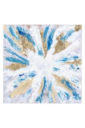 Mudo Concept Blue-gold Soyut Yağlıboya Tablo 100x100 Cm