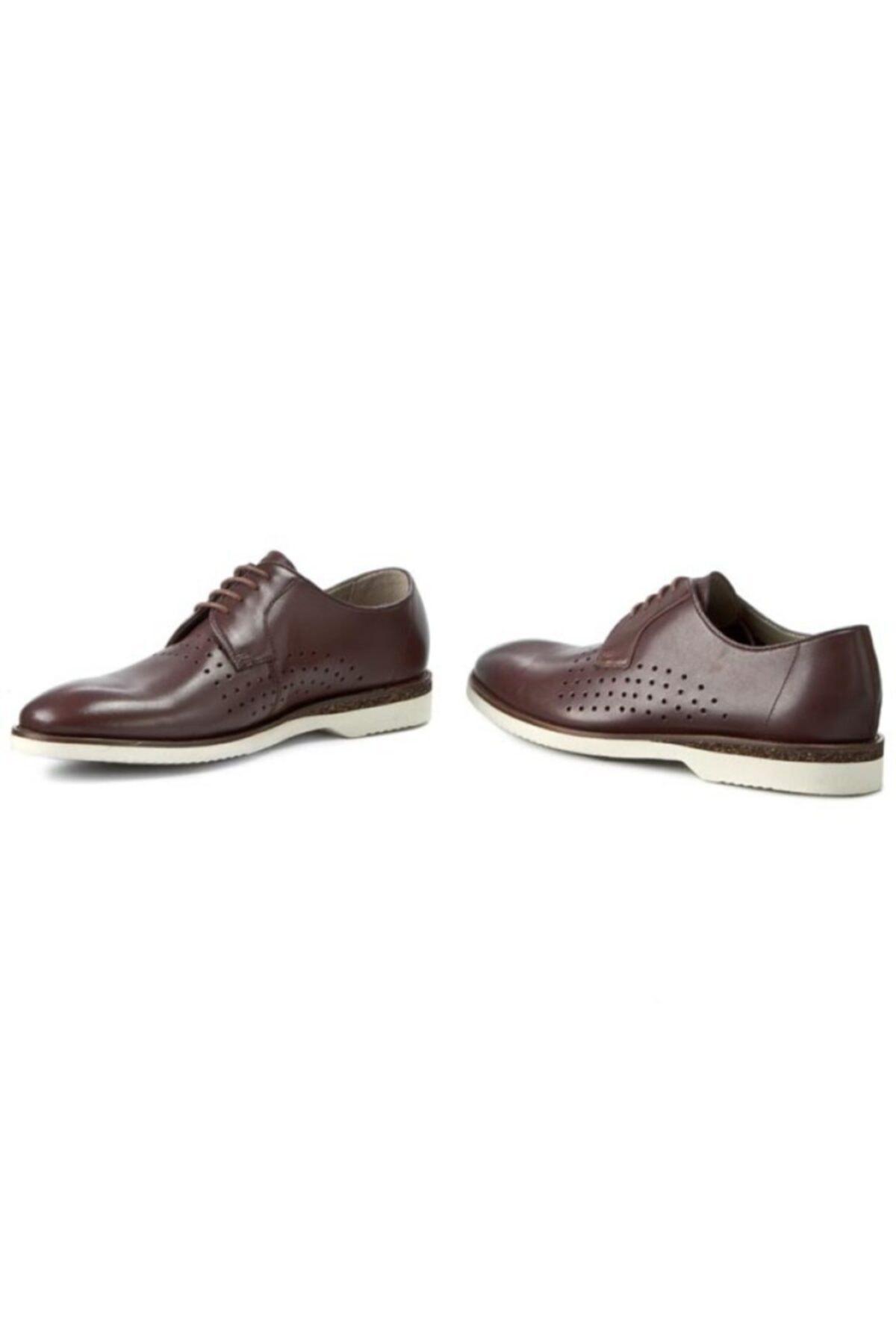 CLARKS Erkek Kestane Deri Ayakkabı 2